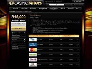 Casino Midas roztočenie zadarmo